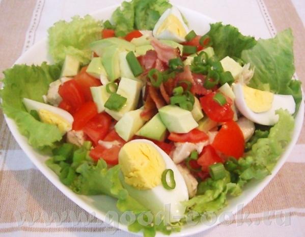 """Голливудский салат с курицей и беконом источник: журнал """"Гастрономъ"""", #06 (65), 2007 Что нужно: 1 б... - 2"""