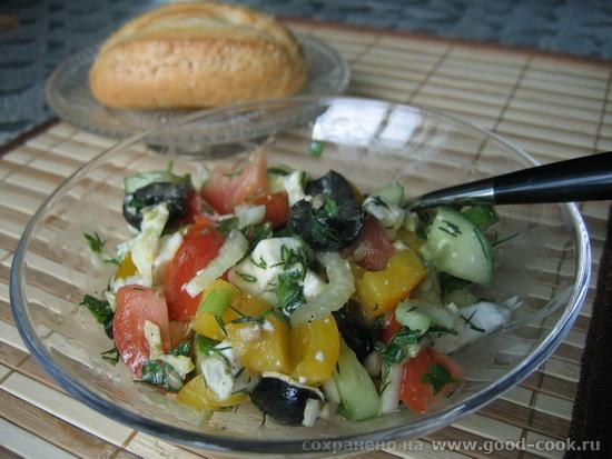 салат типа гречсеский