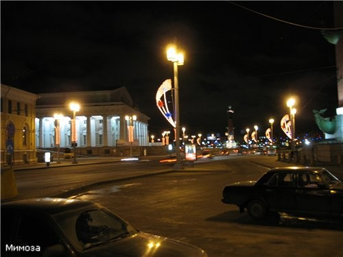 Вид с Дворцового моста на стрелку - 2
