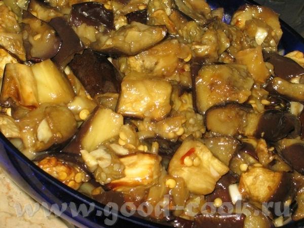 """Баклажаны в соевом соусе и соусе чили (рецепт от с кукинга, словами автора) """"2 баклажана 2 зубчика..."""