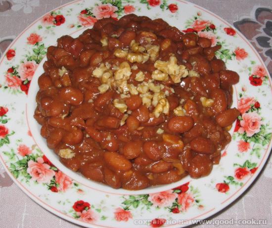 фасоль с орехами