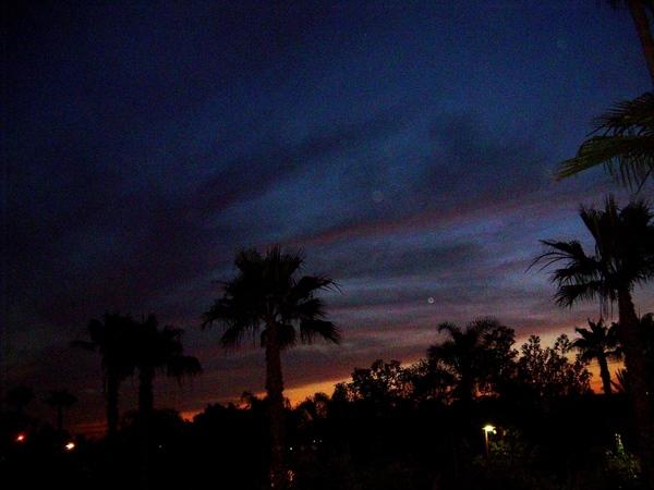 Хочу еше вам показать немного Калифорнийского неба, очень красивого с необычными оттенками синевы - 6