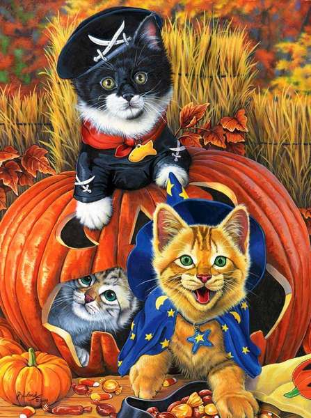 Jenny Newland. Нalloween kittens