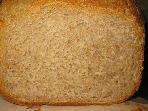 Мой первый хлеб из цельнозерновой муки, купленной у Насти-Львицы - 3