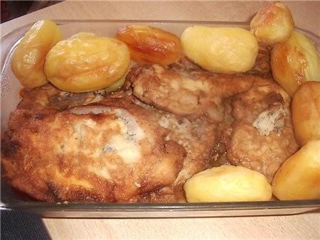 на горячее подавала запеченный картофель ребра и окорочка в соусе барбекю (рецепт соуса брала на на... - 4