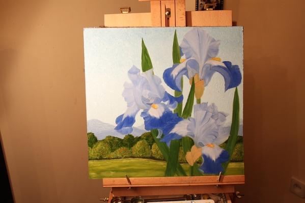 Вот рисовала всю прошлую ночь цветы,когда хотела время посмотреть оказалось8