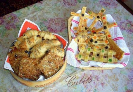 """печенье """"Монастырское"""" Часть печенья я сделала крестами (еще шла крестопоклонная, 3-я неделя поста)..."""
