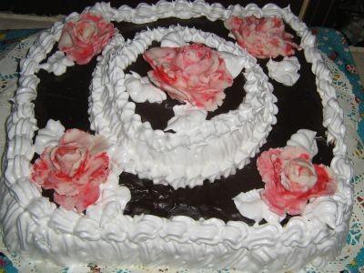 Koketka тортики хороши Девочки , а это я лепила тортик на свое венчание