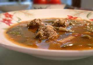 Мексиканский суп Albondigas Albondigas с испанского тефтели