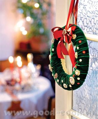 Рождественские хвойные венки и гирлянды - настоящие символы праздника - 7