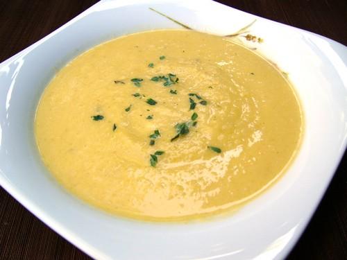 Очень сбалансированный и легкий суп Spaghetti Squash Apple Soup -Суп из тыквы с яблоком 1 лук-порей...