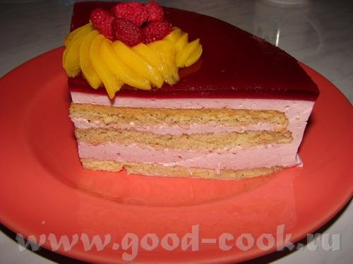 "Торт ""МАЛИНКА"" 3 яйца 1 стакан сахара 1 стакан муки 800 гр малины размороженой 1300 мл сливок (смес... - 2"
