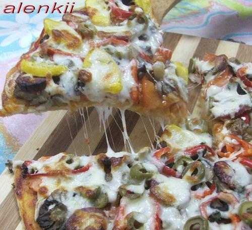 Пицца с маринованными патиссонами Спасибо вам огромнейшее