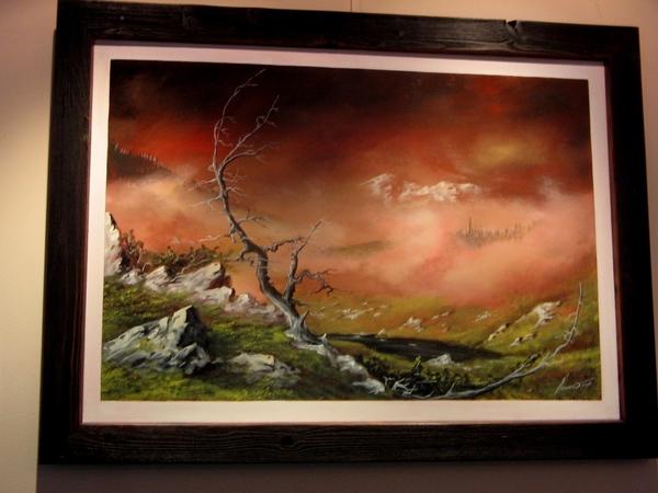 а это я ещё зашла на выставку нашего художника , я о нём уже писала , что он пишет акрилом строител... - 3