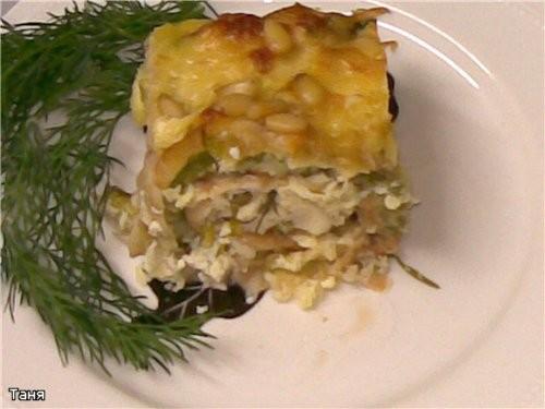 """Запеканка из капустных и кабачковых оладий с мясом Мясной """"кирпичик""""с грибами,сыром и еще - 7"""