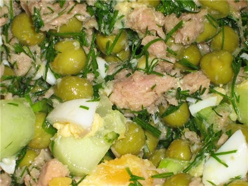 Танюш, несу спасибо за твой рыбный салат с горошком , правда я его немножко под раздельное питание...