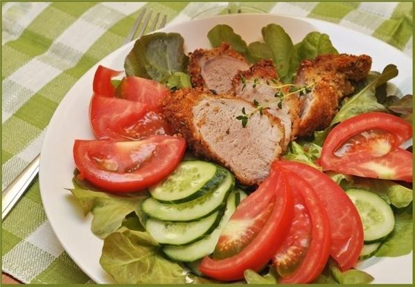 Свиное филе с травами в сухарях - 2