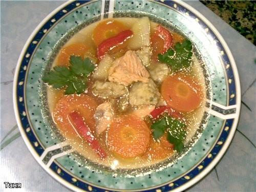 Суп-пюре из брокколи Рыбный суп с клецками и соленым огурцом Борщец наскоро с черносливом Суп с фас... - 2