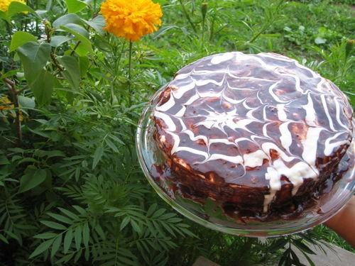 Маковый торт с йогуртом и шоколадом Тесто: 4 яйца щепотка соли 120 г сахара 130 г муки 2 чайные лож...