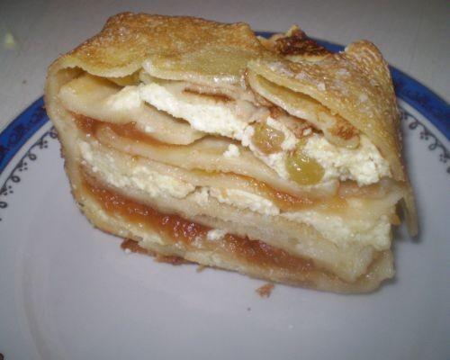 Блинчатый тортик 8-10 блинчиков 300 г творога, 2 ст - 2