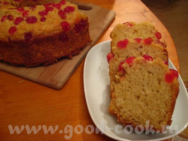 Апельсиново-сметанный кекс с сушеной клюквой Источник Цитирую: Апельсиновый кекс – это настоящий из... - 2