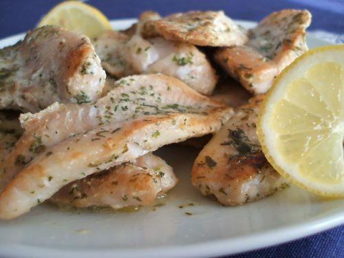 Салат из перловки Жареная рыба Куриный шашлычок - 2