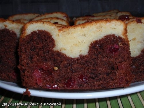 """Двухцветный кекс с клюквой рецепт Кекс""""Киселёк"""" Кекс очень нежный и воздушный"""