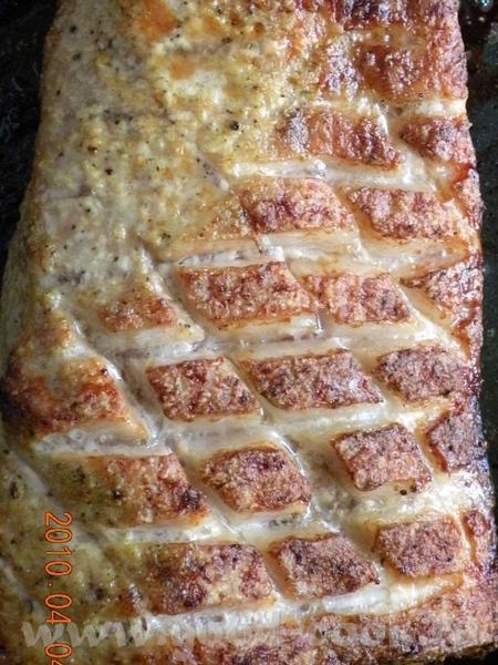 РЕБРА ПЕЧЕНЫЕ Я брала звено ребер,натерала соусом: горчица с добавлением хрена, соли - 3