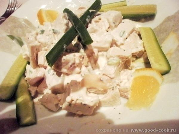 Несу вам вкусный рецептик салатика из курицы