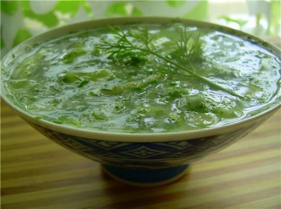 Холодный летний суп Айран