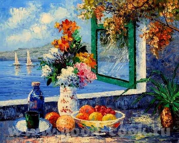 Спасибо, я рада Вот ешё фрукты и цветы Художник Кроповинский Сергей И сдесь много