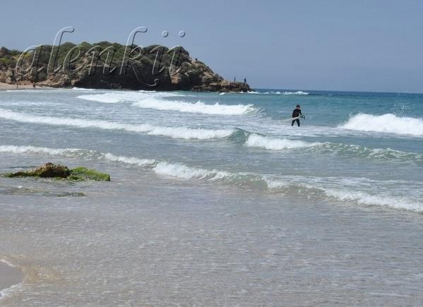 """Изумляют своей отвагой серфенгисты, которые бесстрашно заходят в море и """"ловят"""" волну"""
