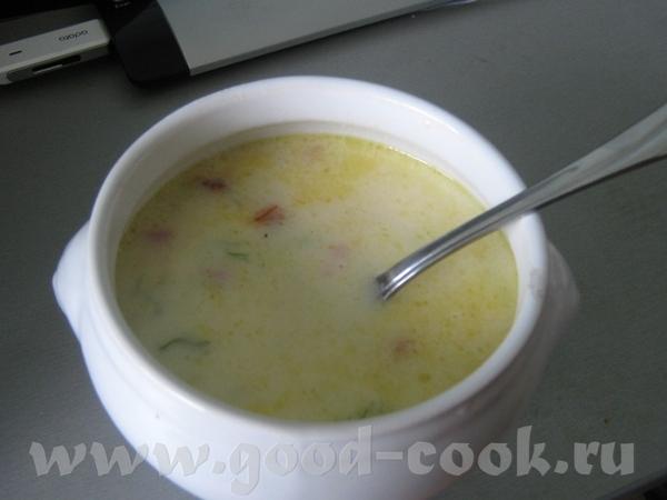 Итак, сегодня у нас сливочный суп с картофелем