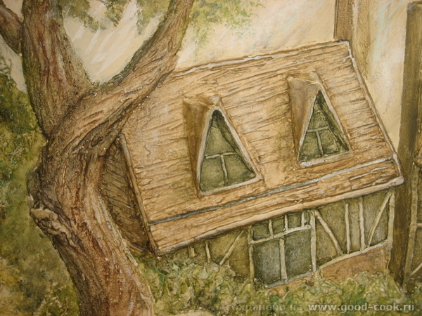 Хижина. Рисунок на стене