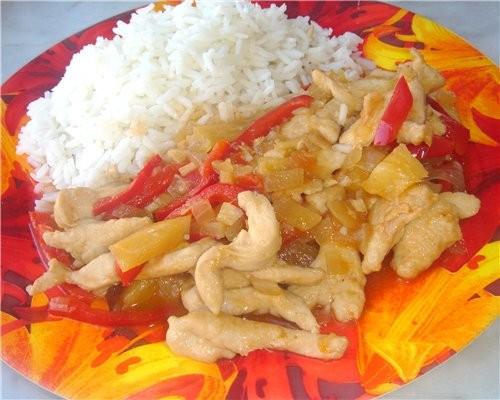 Курица по-китайски Сначала это был рецепт из свинины из журнала «Гастроном», а потом он плавно тран...
