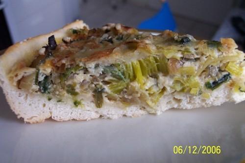 Луковый пирог: лук репчатый - 1 шт
