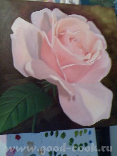 Показываю мои розы, рисую триптих - 2