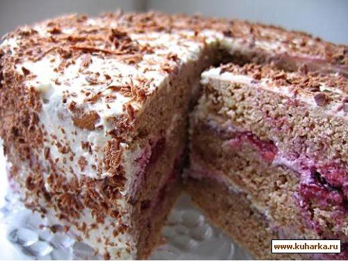 Слоеный торт вишневый сад