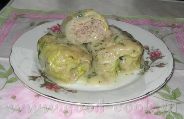 Блюдо сочинилось из-за того, что попался кочан капусты, от которого не хотели отделяться листики
