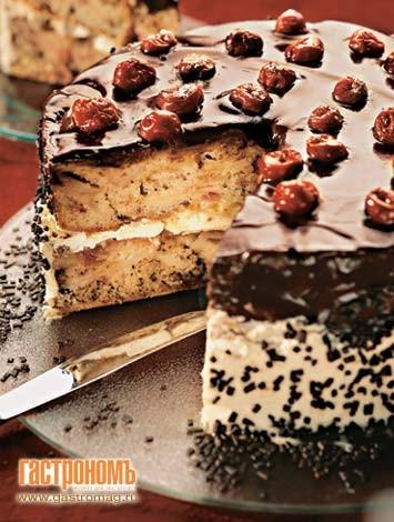 Интересный тортик из шарлотки, помнится кто-то о ней говорил, а вот фотка и рецепт тут