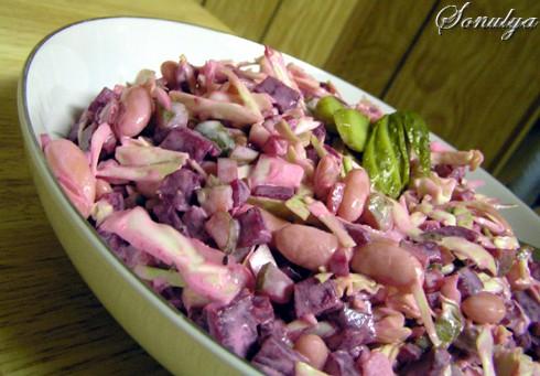 Салат из свеклы и фасоли рецепты с фото