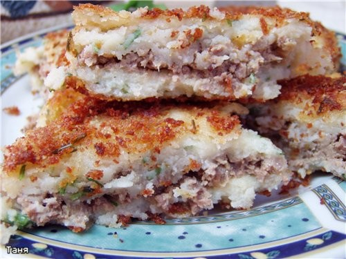 Картофельные зразы с ливером Картофельный салат с копченой колбасой - 2