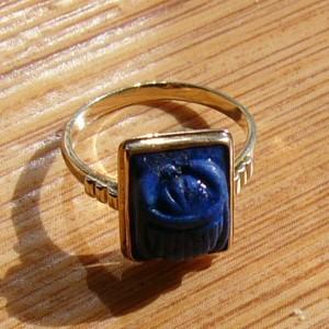 Я вообще украшений не люблю, но когда я увидела это колечко с афганским лазуритом (он темно-синий с...