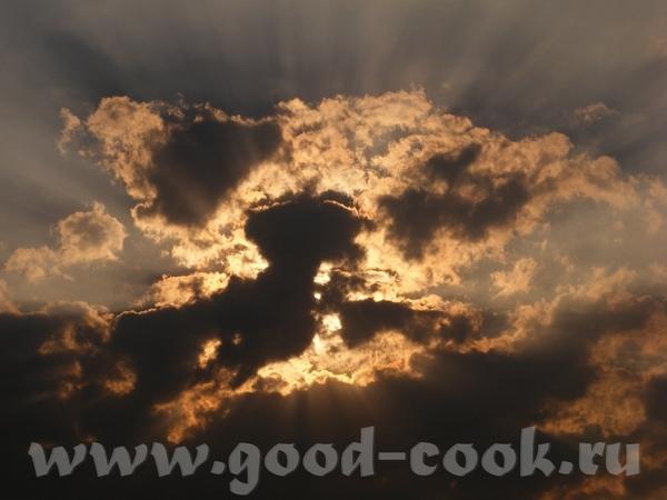 Ещё небо, облака, пламя заходящего солнца - 2