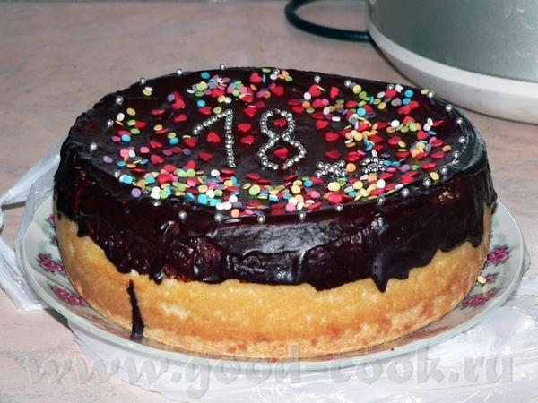 Тортик на мой день рождения В основе - А-ля чизкейк от Лолы