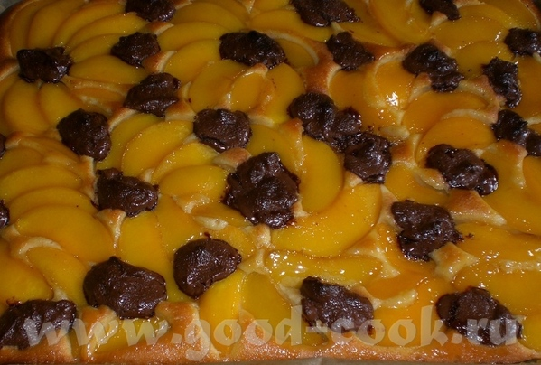 Pfirsich-Nougat-Kuchen Персиковый пирог с нугой