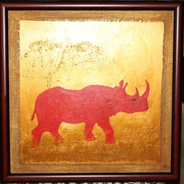 Я все буду красить под золото,вот готовая Вот сама красила Вот мой носорог Все смотрю тоже столько... - 3