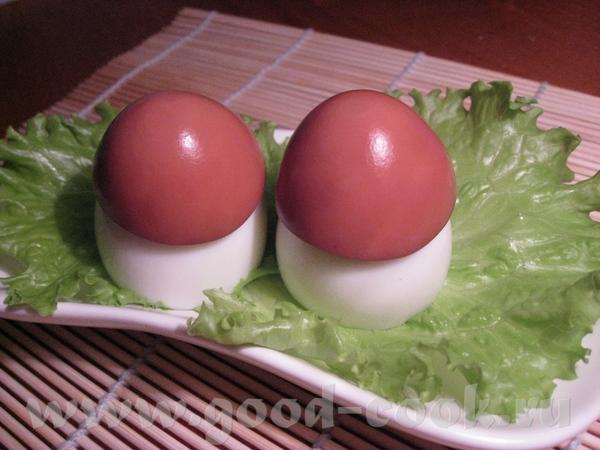 Подготовку к Новому году 2010 считаю открытой Грибочки из яиц ЦИТИРУЮ ИСТОЧНИК: Берём: Яйца Грибы Л...