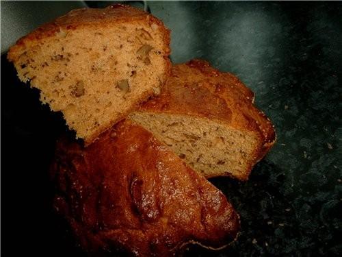 Кекс карамельно-ореховый