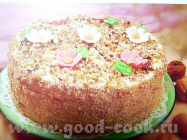 "Торт ""Аленка"" Для теста: 3 яйца 360 гр сахара 375 гр сметаны 240 гр муки 3 ст"